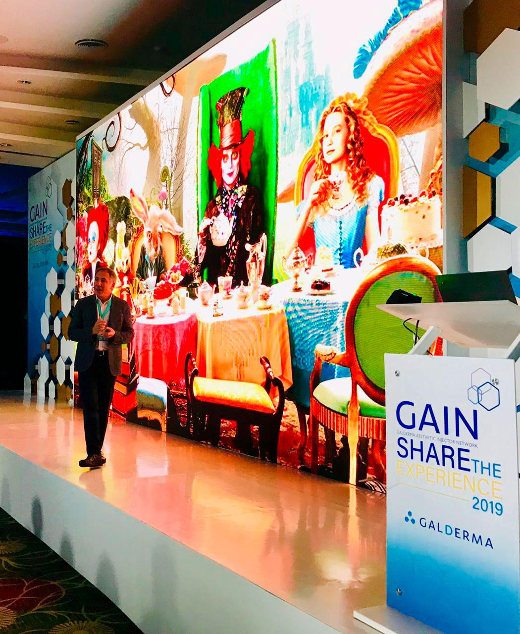 Gain share the experience 2019 Galderma Aesthetics Dr. Frank Rosengaus
